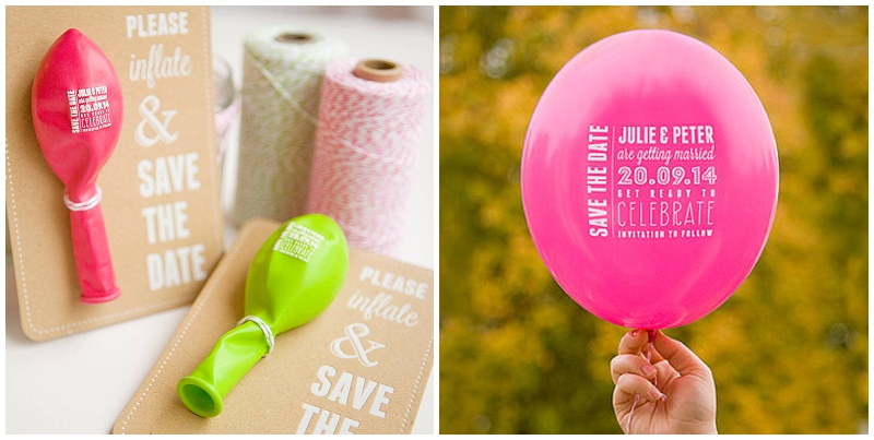 SavetheDate Ballon von WhiteKnot