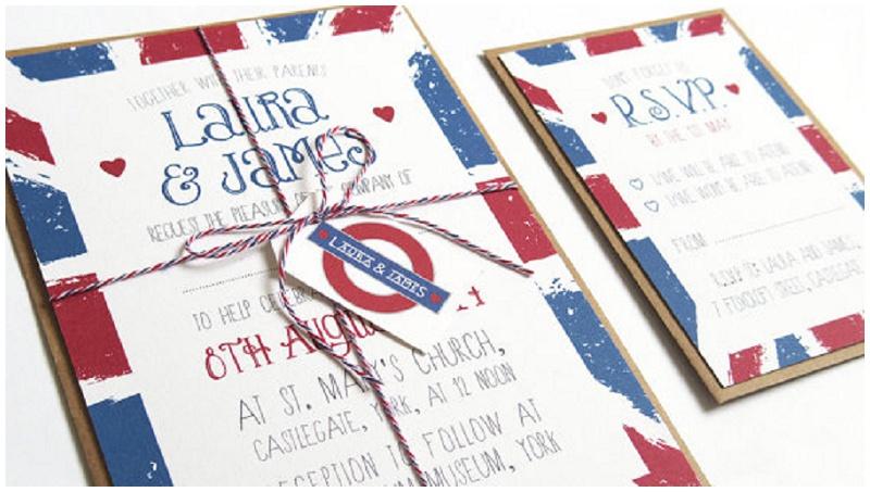 London Einladungskarte Hochzeit