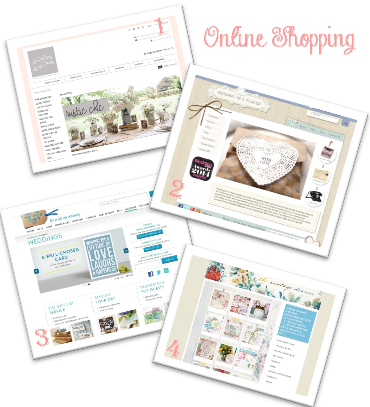 britische Onlineshops für Hochzeitsdekoration