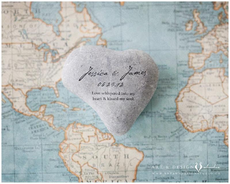 Hochzeit Gästebuch anders Weltkarte