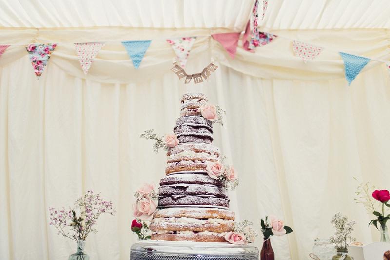 naked cake Vintage Hochzeit