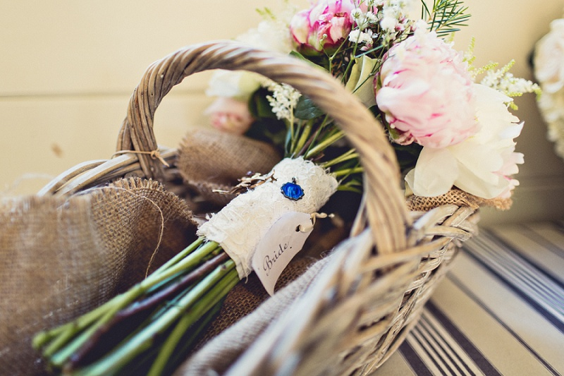 bridal bouquet - Isobel and Ed rustic Tipi Wedding Anna Clarke