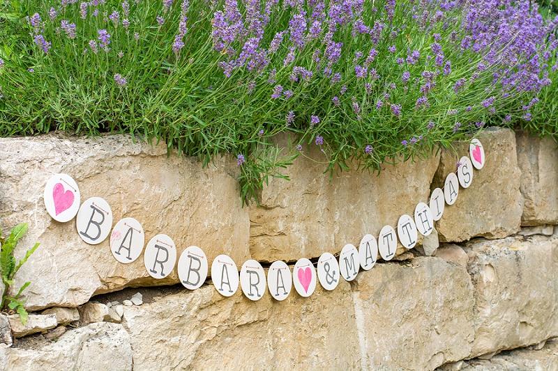 Girlande Hochzeit Hochzeitstag Lavendel