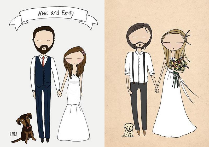 Kreative Einladungskarten Für Die Hochzeit Von Blanka Illustration.  2014 07 07_0003