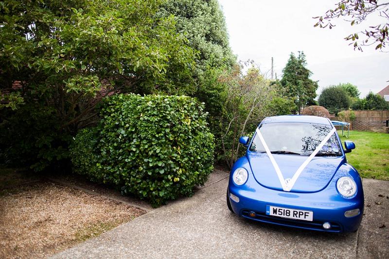 VW Beetle Brautauto navyblur