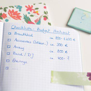 Wie viel kostet eine Hochzeit? Budgetplaner und viele Tipps rund ums Geld