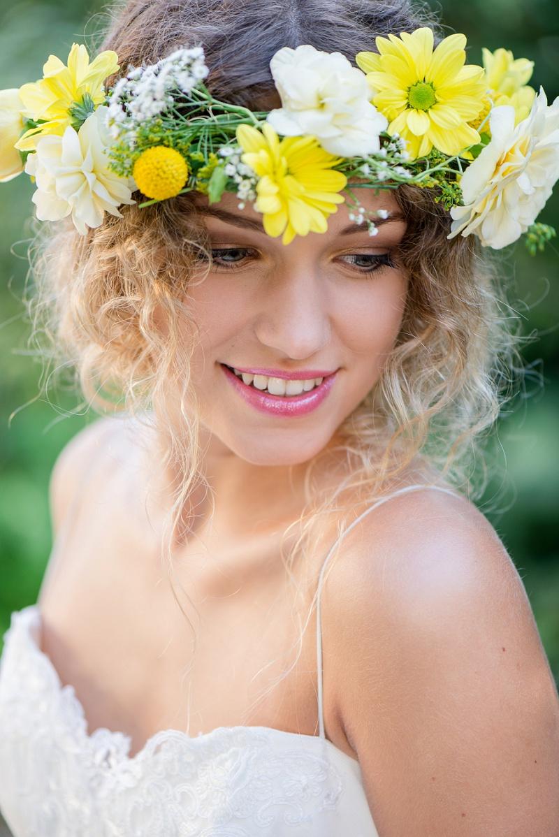 Blumenkranz gelb
