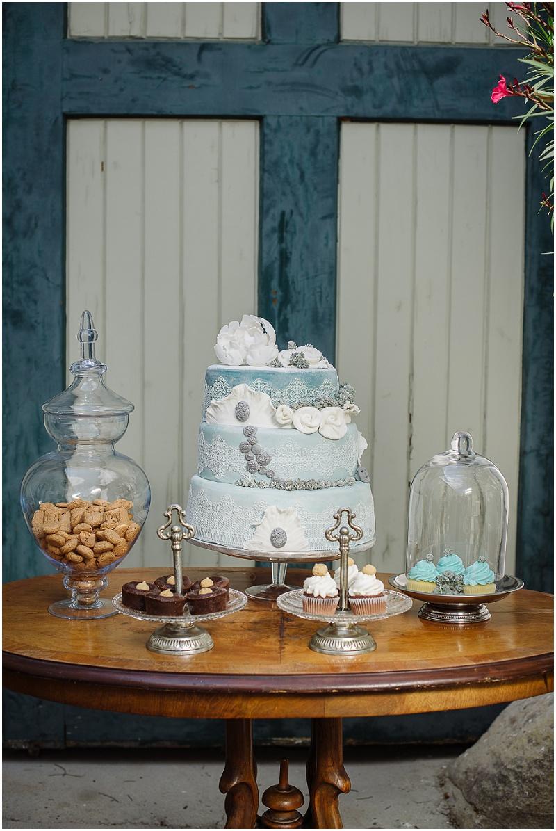 Hochzeit candy bar blau