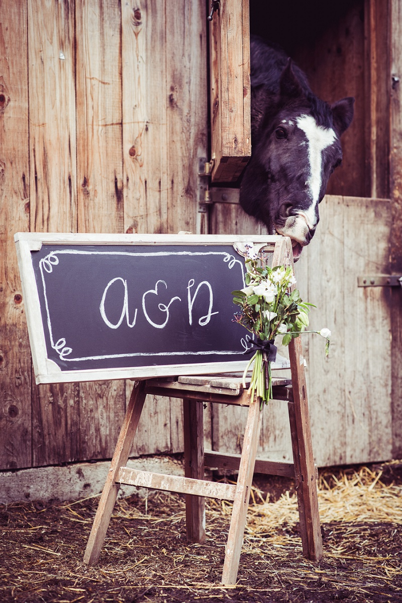 rustikale Hochzeit Schild