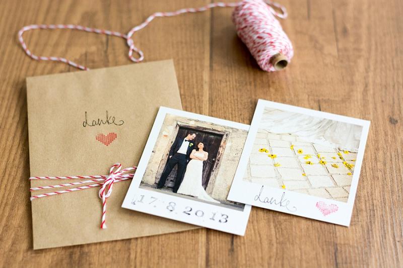 Erinnerungen an eure Hochzeit mit Polaroids von Photolove und ein DIY für Dankestüten!