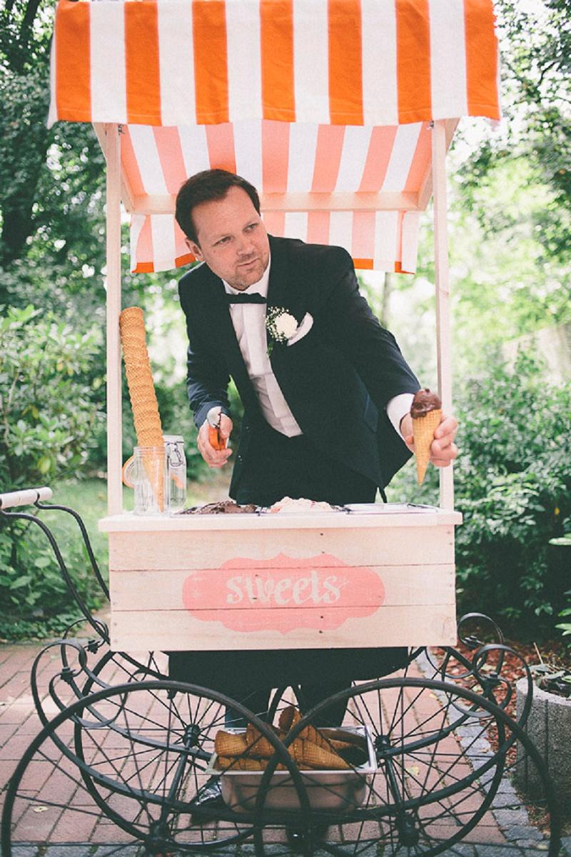 Eiswagen Vintage Hochzeit DIY