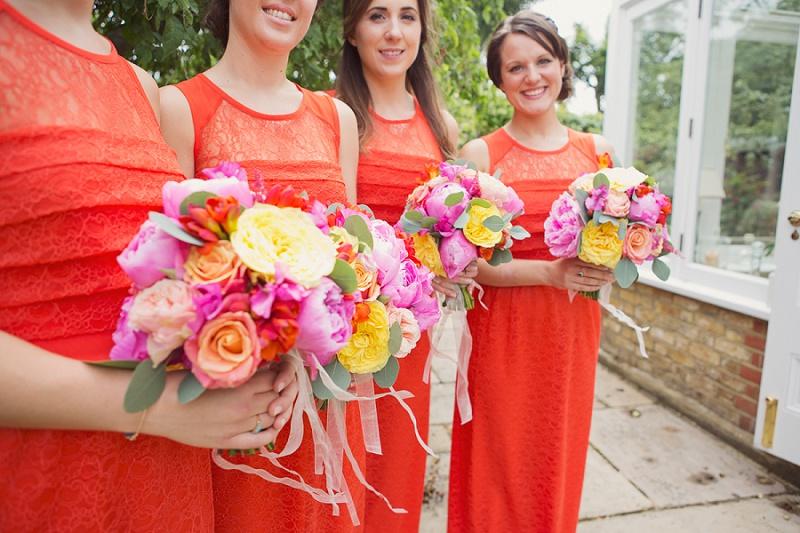 Brautjungfer Kleid orange