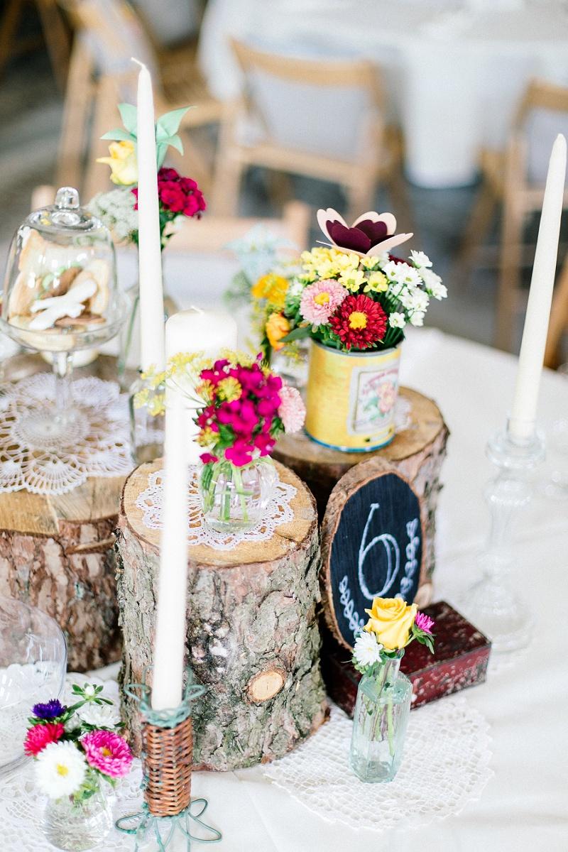 rustikale Tischdeko Hochzeit