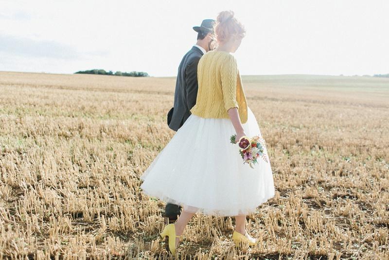 Moderne DIY-Hochzeit von Julia und Gil
