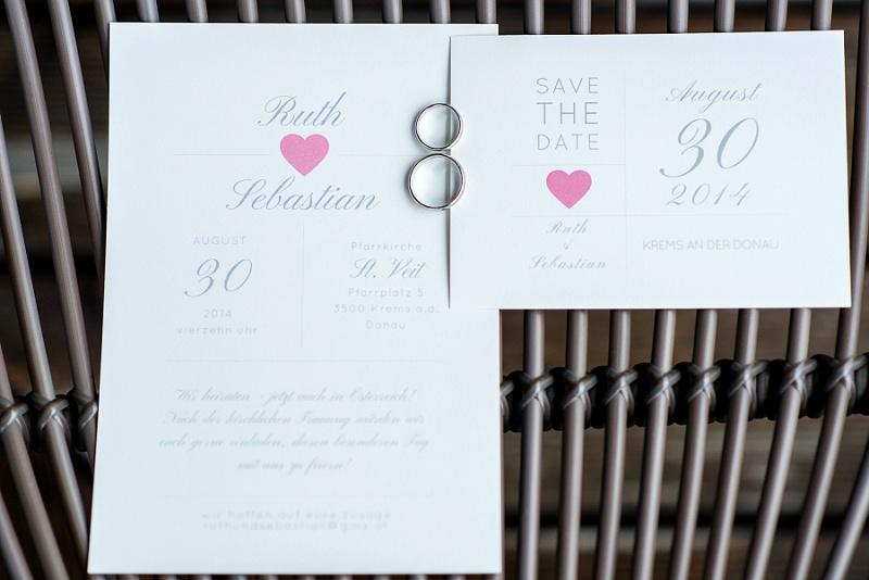 Hochzeit Einladungskarte Herz
