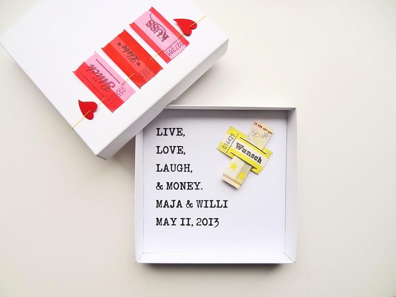 Geldgeschenke schöner verpacken mit schnurzpieps  Hochzeitsblog The ...
