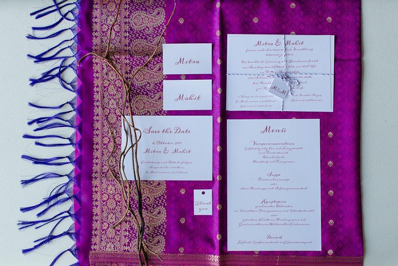 Hochzeit Eeinladungen lila