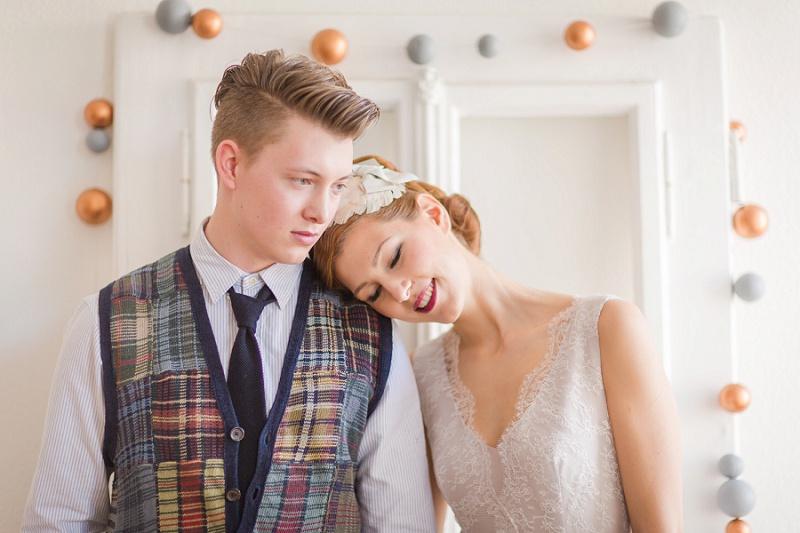Hochzeit Girlande Kupfer