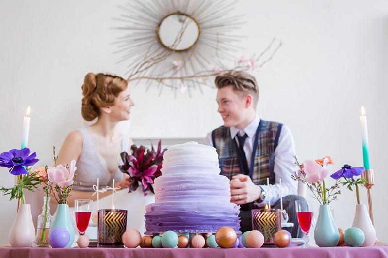 Hochzeit Tischdeko kupfer