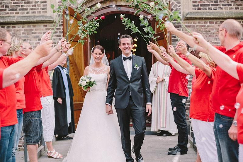 Hochzeit Spalier Rosen