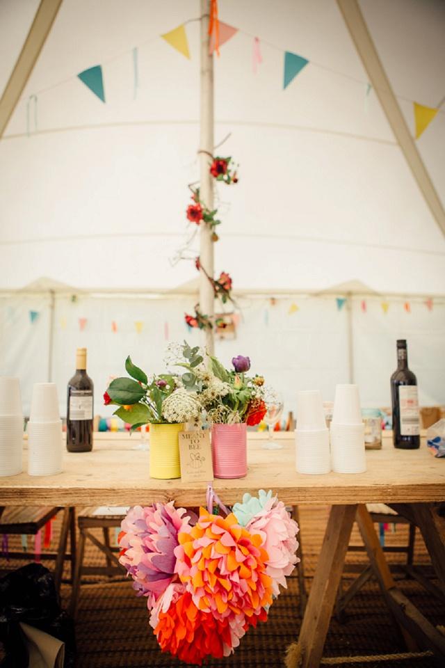 Hochzeit Tischdeko bunt