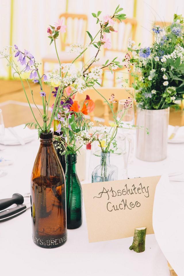 Hochzeit Tischdeko Wiesenblumen