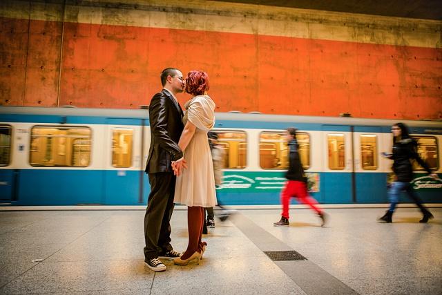 Ubahn Hochzeit