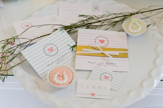 Hochzeitspapeterie Einladungskarte Hochzeit pastell
