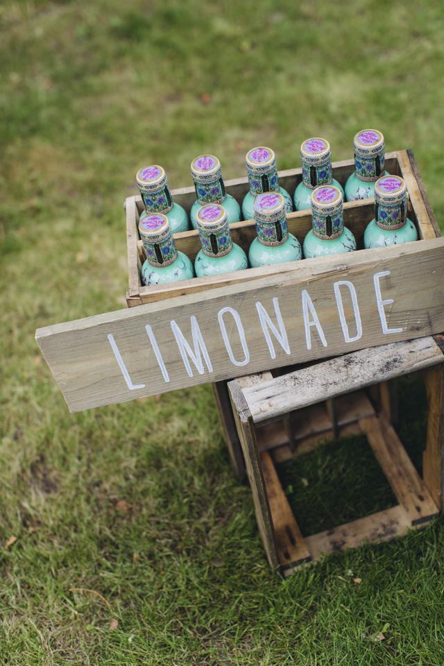 Gartenhochzeit Limonade