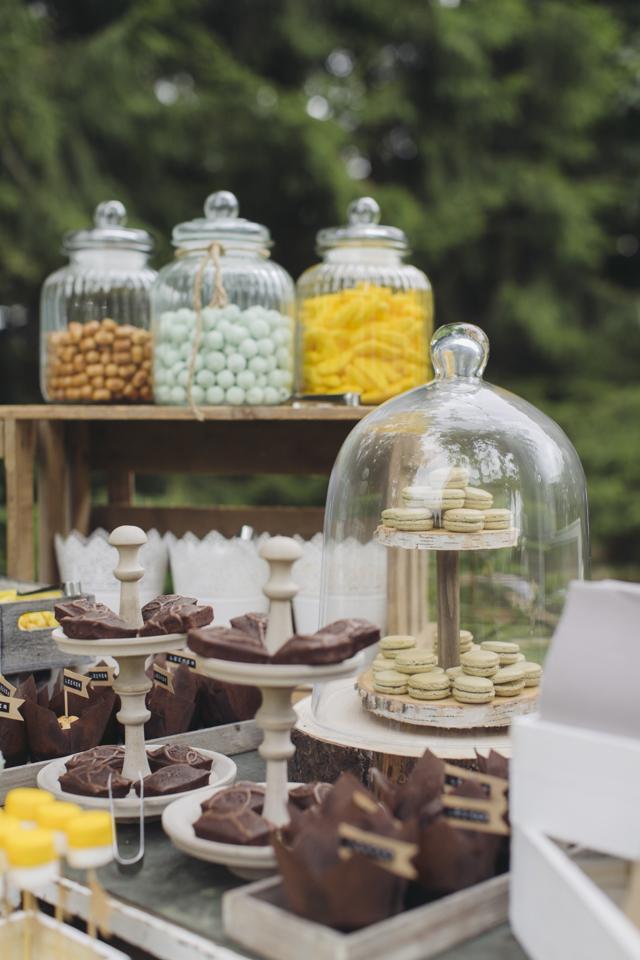 Candy Bar kekse Gartenhochzeit