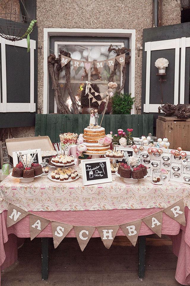 Sweet Table Vintage Hochzeit