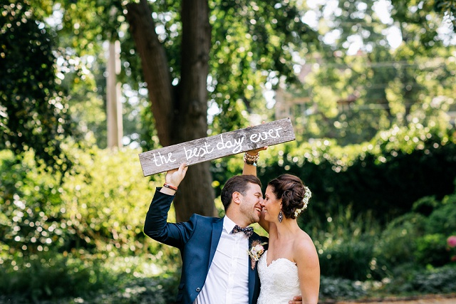 Hochzeitsfoto best day ever