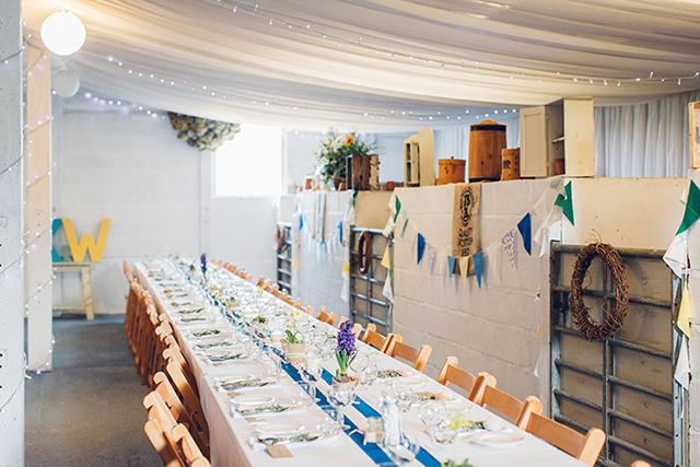 Hochzeit Tischdeko blau