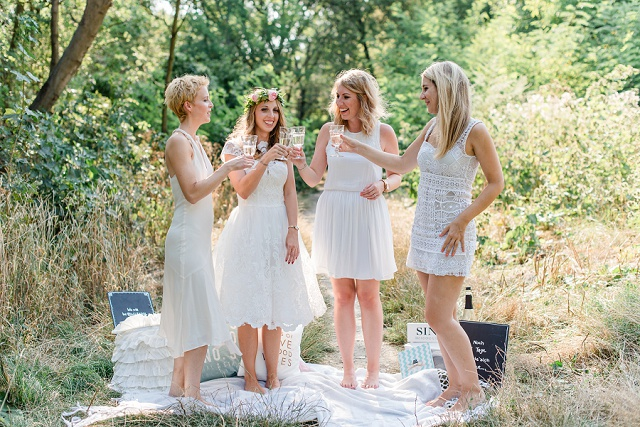 Junggesellenabschied Brautparty Picknick