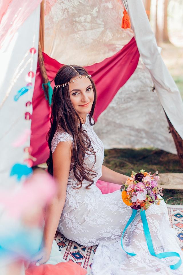 Hochzeit Boho rosa