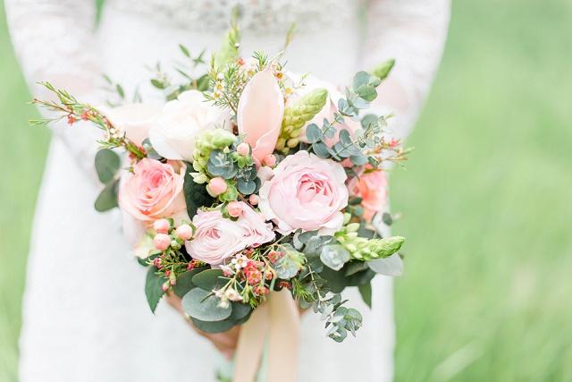 Brautstrauß Eukalyptus pastell