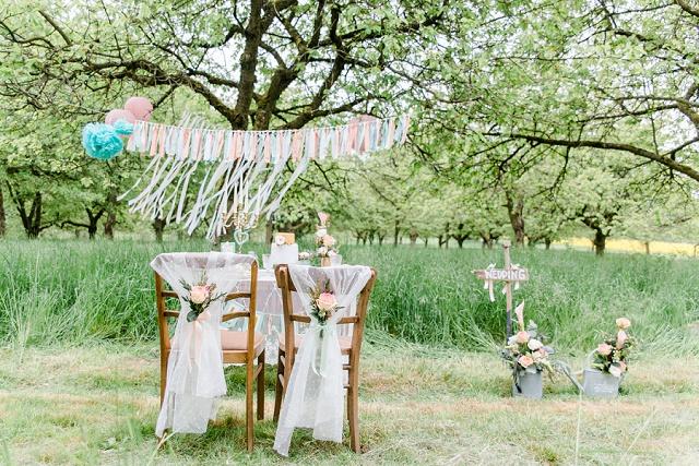 Gartenhochzeit in zarten Pastellfarben von Jana Köhler