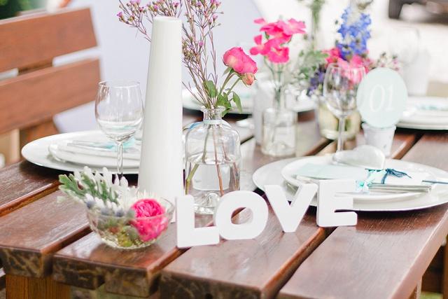 Tischdeko Love Schild