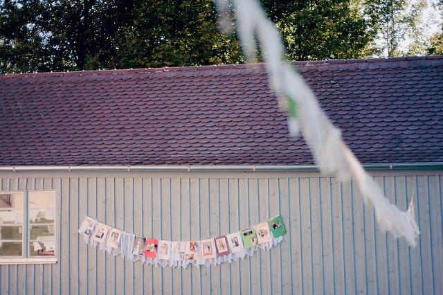 Gartenhochzeit Girlande aus Fotos