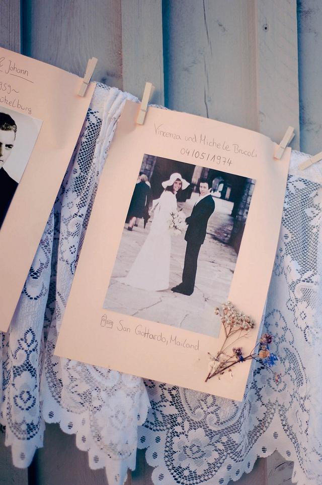Hochzeit Girlande aus Fotos