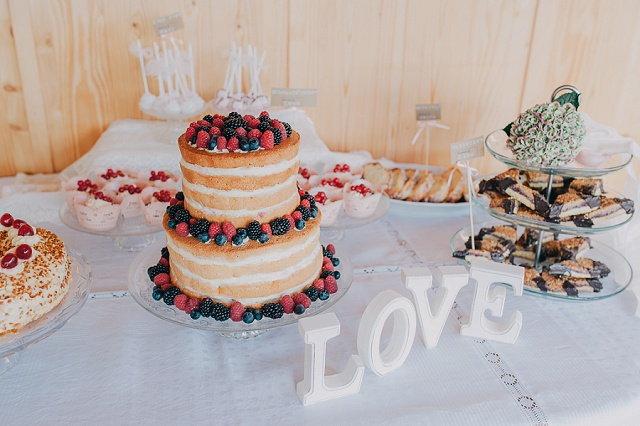Hochzeit Kuchenbüffet