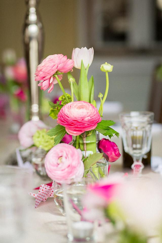 Tischdeko Hochzeit Ranunkeln