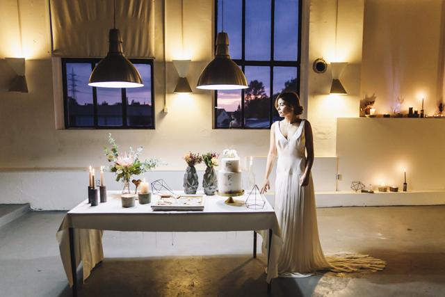 Urban Geometric Chic Heiraten mit Spartipps von Jane Weber
