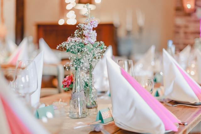 Hochzeit Tischdekoration rosa