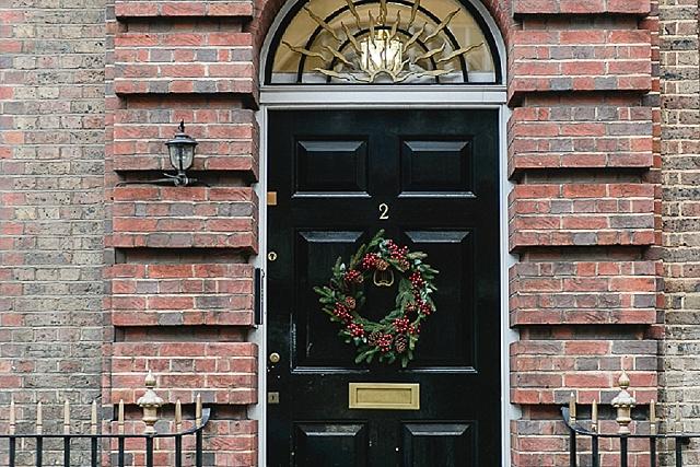London Weihnachtskranz Türkranz Weihnachten