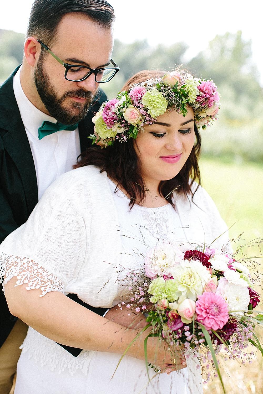 Brautstrauß Boho rosa