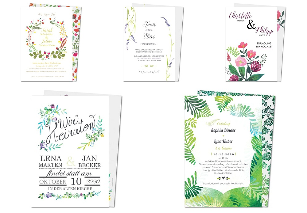 Individuelle Einladungskarten mit Moodboards für eure Dekoration von Planet Cards