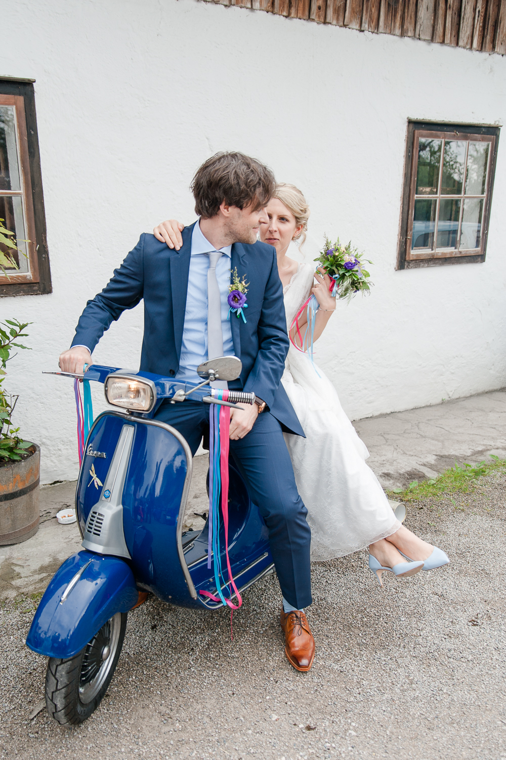 Hochzeit Roller Vespa