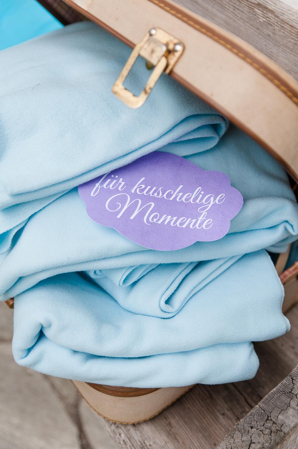 Hochzeit Decke Gastgeschenk