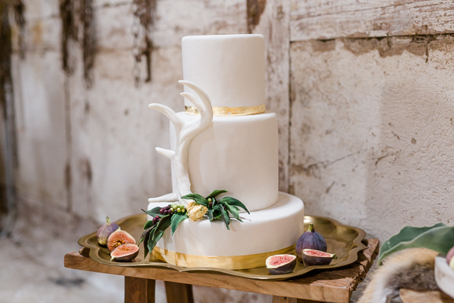 Hochzeitstorte rustikal Feigen